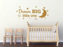 "Child's Wall Quote ""Dream Big"" Wall Art Sticker, Vinyl Decal, Transfer."